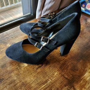 Brand New Witchy Black Mary Jane Heels